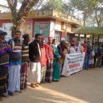 শাল্লায় হাওর বাঁচাও সুনামগঞ্জ বাঁচাও আন্দোলনের মানববন্ধন