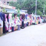 নিরাপদ ক্যাম্পাসের দাবীতে সিলেট আইএইচটি'র মানববন্ধন