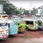 দ্বিতীয় দিনে সিরাজগঞ্জ-ঢাকা রুটে বাস ধর্মঘট